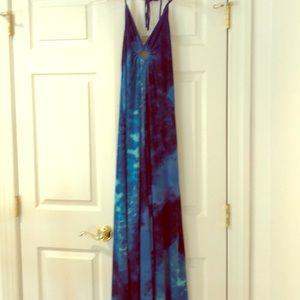 WhitehouseBlackmarket maxi dress, size XS, blue